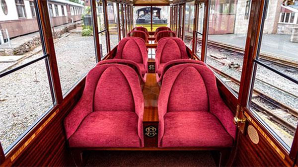 First Class Observation carriage at Ravenglass & Eskdale Railway