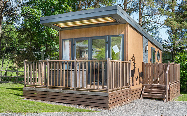 Contemporary Hive Cabins at Waterfoot Park