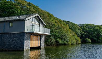 Waterbird Boathouse external view from Lake Windermere