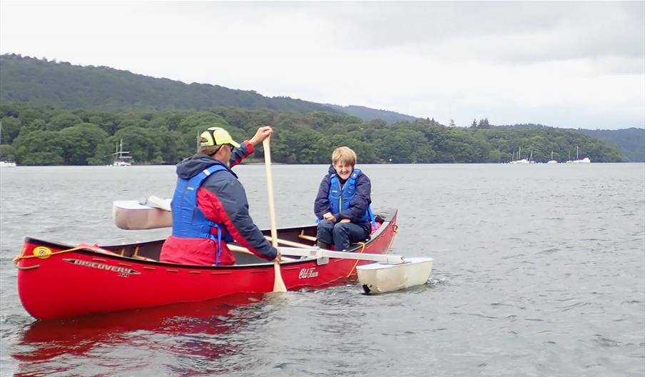 Inclusive Canoeing on Winderemere with Anyone Can