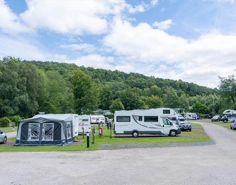 Touring pitches at Waterfoot Park