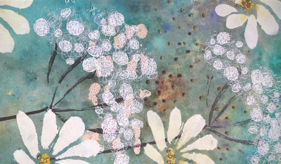 Paint Print Stitch - Botanics with Kay Leech