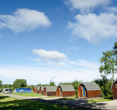 Glamping Pods at Hall More Holiday Park