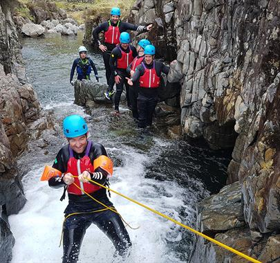 Extreme Ghyll Scrambling with Path to Adventure
