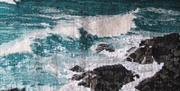 Weaving Water Woven Land - British Tapesty Scottish group exhibition at Farfield Mill