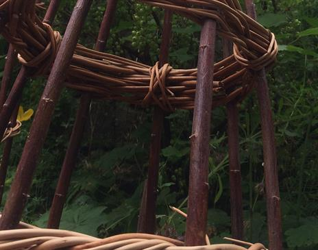 WILLOW TIPIS FOR YOUR GARDEN CLIMBERS